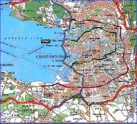 карта дорог санкт петербурга
