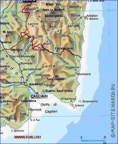 Где находится остров сардиния