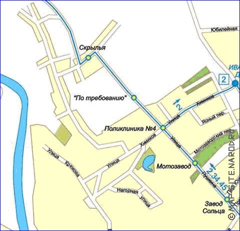 Карта Серпухов