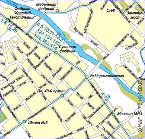 карта серпухова с улицами
