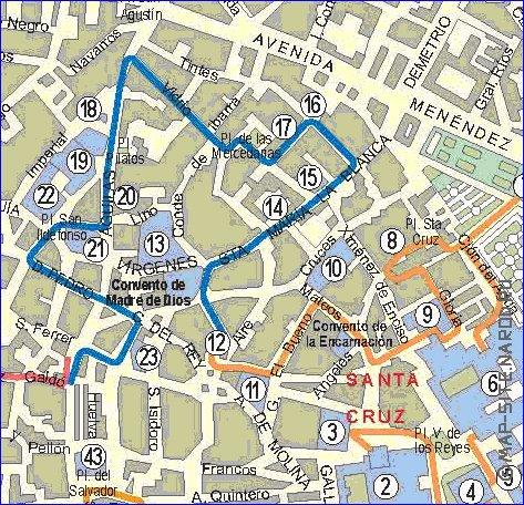 Interactive carte de Seville